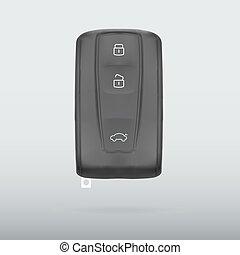 Car key isolated on white background vector illustration