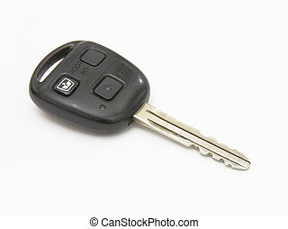 Car key, object isolated on white background .
