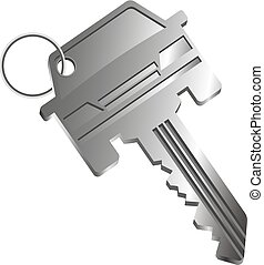 Car key silhouette - The car key is silhouetted. Sale, lease...