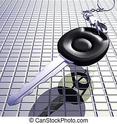 Car Key - Digital Illustration of a Car Key