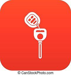 Car key with remote control icon digital red