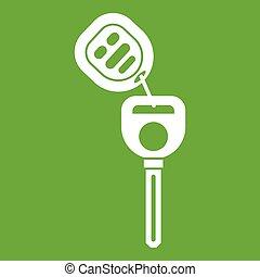 Car key with remote control icon green