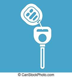 Car key with remote control icon white