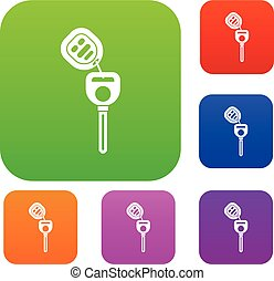 Car key with remote control set collection