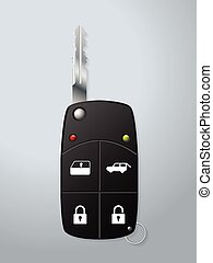 Car key with remote security functions
