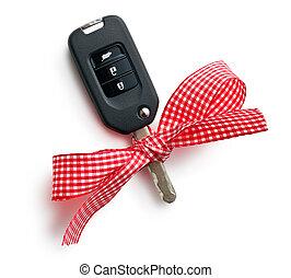 car key with ribbon
