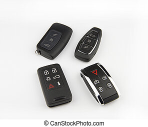 Car keys - Different kind of keys for cars isolated on...
