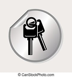 car keys design, vector illustration eps10 graphic