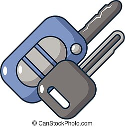 Car keys icon, cartoon style - Car keys icon. Cartoon...
