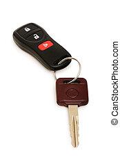 Car keys isolated on the white background