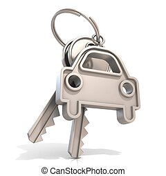 Car keys, isolated on white background