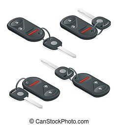 Car Keys isometric set