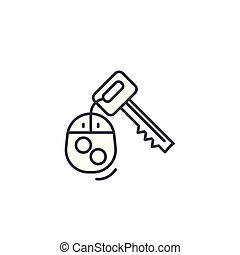 Car keys linear icon concept. Car keys line vector sign, symbol, illustration.