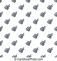 Car keys pattern seamless - Car keys pattern in cartoon...