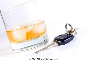 Don?t drink and drive - Car keys placed close to drink Don?t...