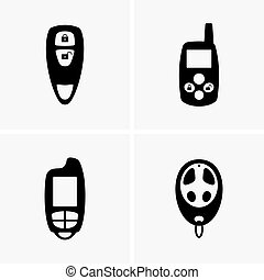 Car keys - Set of four car keys, shade pictures