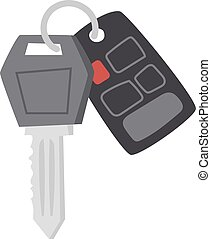 Car keys vector illustration. - Car key with remote control...