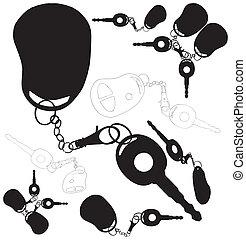 Car Keys With Alarm System Vector