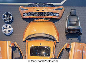 Car kit with external parts