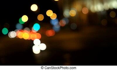 Car Lanterns out of focus HD