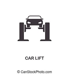Car Lift creative icon. Simple element illustration. Car Lift concept symbol design from car parts collection. Can be used for web, mobile, web design, apps, software, print.
