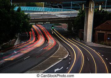 Car light streaks
