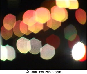Car lights.