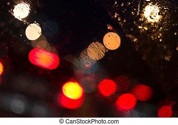 Car Lights in Rain