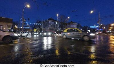 Car lights in traffic
