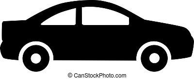 car, limusine, ícone