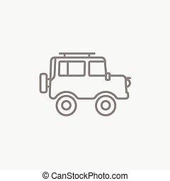 Car line icon.
