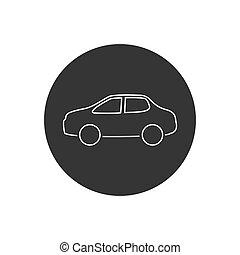 Car line icon vector illustration modern flat style