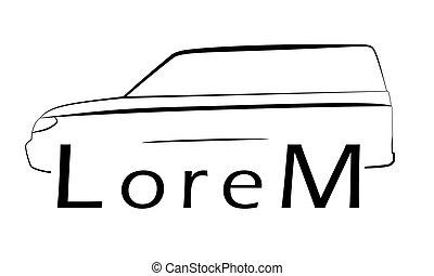 Car lines logo suv Vector Illustration