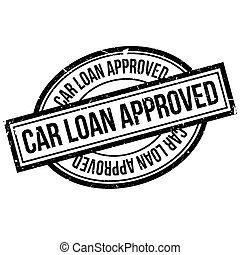 Car Loan Approved rubber stamp