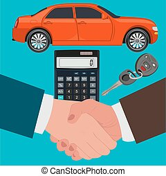 car loan concept, calculator