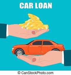 car loan concept, vector