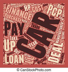 Car Loans Drive Down The Cost text background wordcloud concept