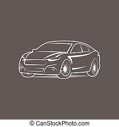 Car Logo icon silhouette Template Design Vector - Car Logo...