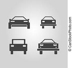 car logo set. vector car icons collection