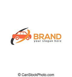 Car logo template, flat design.