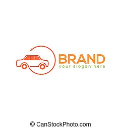 Car logo template, flat design