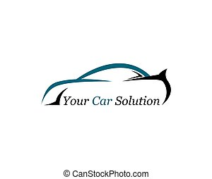 Car logo vector icon illustration design