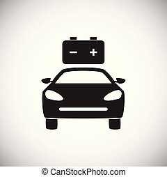 Car low battery on white background