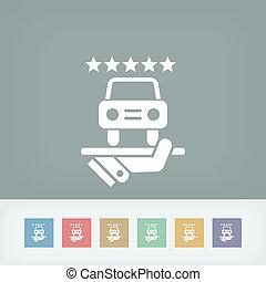 Car luxury services icon
