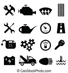 Car maintenance and repair icons - Car maintenance and ...