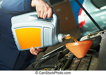 car maintenance - oil replacing