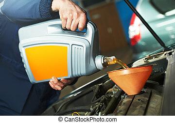 car maintenance - oil replacing