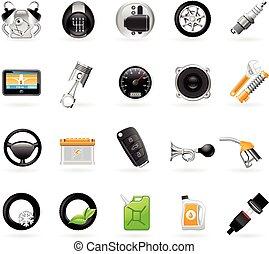 Car maintenance station icons