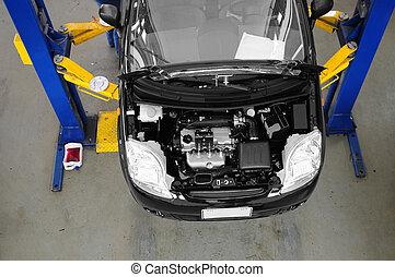Car maintenance.
