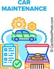 Car Maintenance Vector Concept Color Illustration